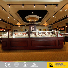 Jewelry showcase furniture assembled decorative jewelry store design used mall kiosk for sale