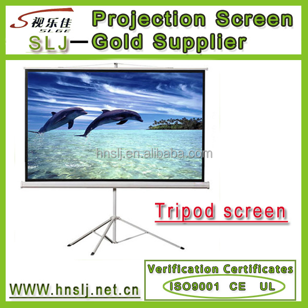 Wall mount manual screen /Matte white portable tripod projector screen outdoor portable 4:3 tripod projector/projection screen