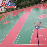 basketball Silicon PU material synthetic basketball court flooring