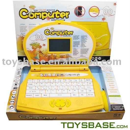 Education laptop with color screen children learning computer