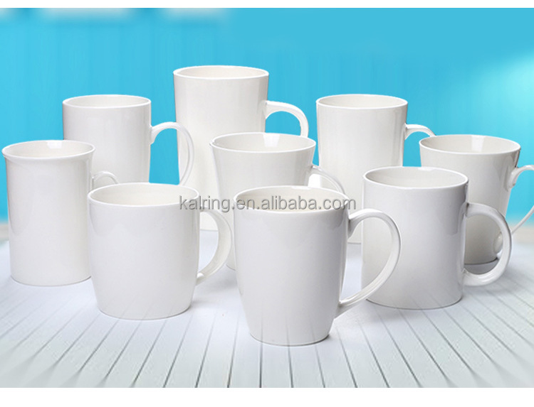 White ceramic mugs