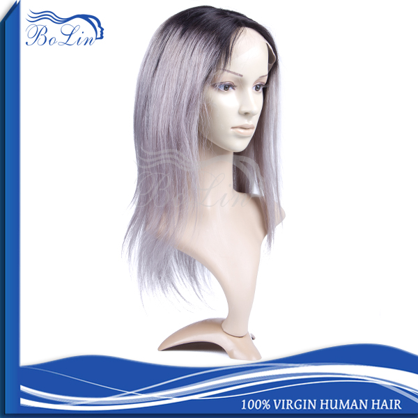 Top Quality Unprocessed Wholesale Grey Full Lace Wigs Grade 7A Remy Brazilian Human Hair Short Lace Wigs