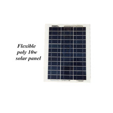 A class CE ISO RoHS FCC approved polycrystalline flexible solar panel 10w 390*270*4mm