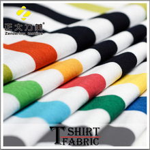 cotton nylon fabric 40's combed and carded cotton yarn 2015 men's t shirt fabric