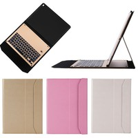 Aluminum keyboard tablet Case for iPad Pro, for apple ipad pro leather case