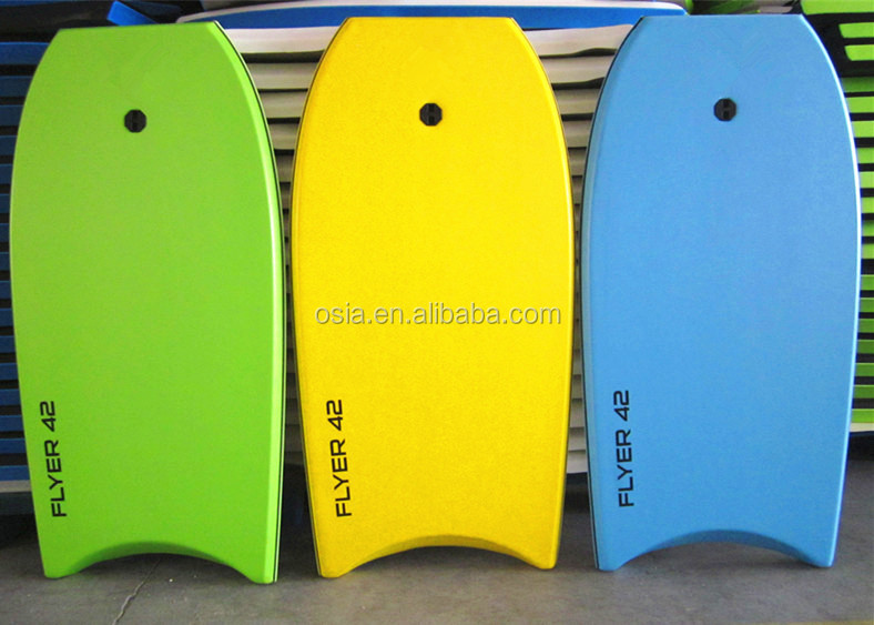 Super Lightweight Body board with EPS Core Coiled Leash Slick Bottom, Perfect surfing