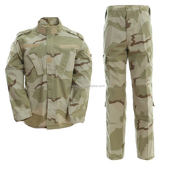 Cheap Wholesale tri color desert camo military uniform surplus