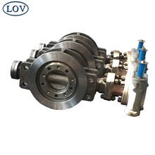DN250 PN40 Worm Gear Operated Triple Offset Wafer Type Stainless Steel Water Butterfly Valve Price