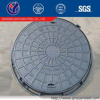 round iron casting manhole lids for exporting, professional manhole cover en124