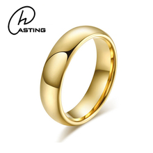Cheap 4mm Tungsten Carbide Gold Wedding Rings For Women