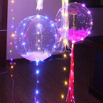 18 inch Inflatble Led Balloon Flashing Lights Bobo Helium Balloon For Christmas Party