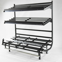 3-layers Display <strong>Shelf</strong> for Supermarket and Retail Store with wheels