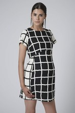 Windowpane Check Print maternity dresses for office