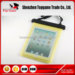 pvc waterproof case for tablet pc 9.7-10.2inch