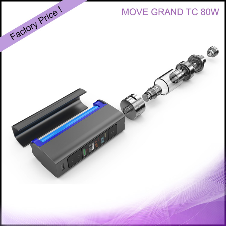 E-cig OLED Screen Ceramic Coil Viva Kita MOVE GRAND TC 80W E Vape Kit