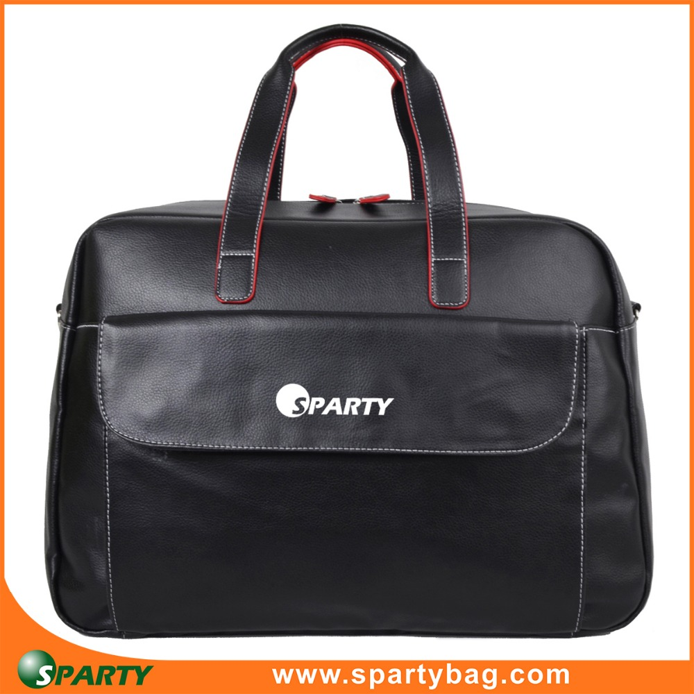 Stylish high end men travel leather travel bag