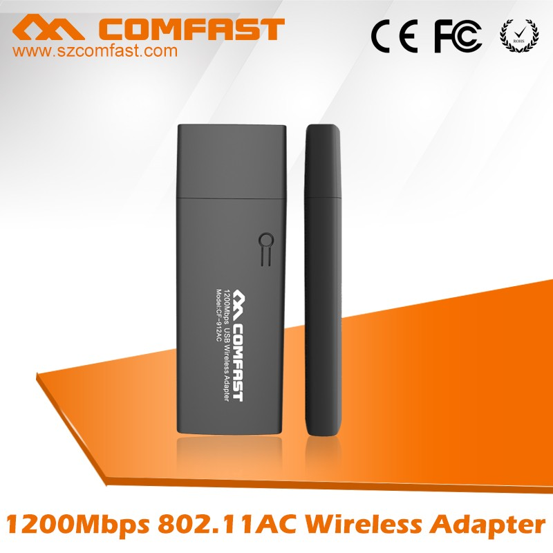 Wireless Networking Equipment 1200Mbps COMFAST CF-912AC Wireless USB Wlan Adapter 802.11ac