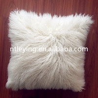 Hot sale faux fur mongolian tibetan lamb fur cushion cover