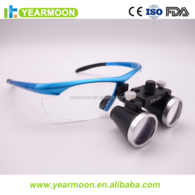 Binoculars Dental Loup Paper Box Package Portable Surgical Loupes with LED Light/Dental Magnifying Glasses