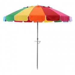 outdoor sunshade advertise strong windproof beach umbrella 16 ribs