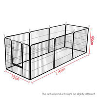 6 Panel Pet Dog Playpen Exercise Cage Puppy Crate Enclosure Cat Rabbit Fence