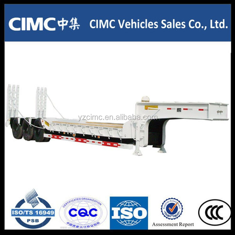 Fuel-efficient tri-axle extendable low bed truck semi trailer car carrier trucks