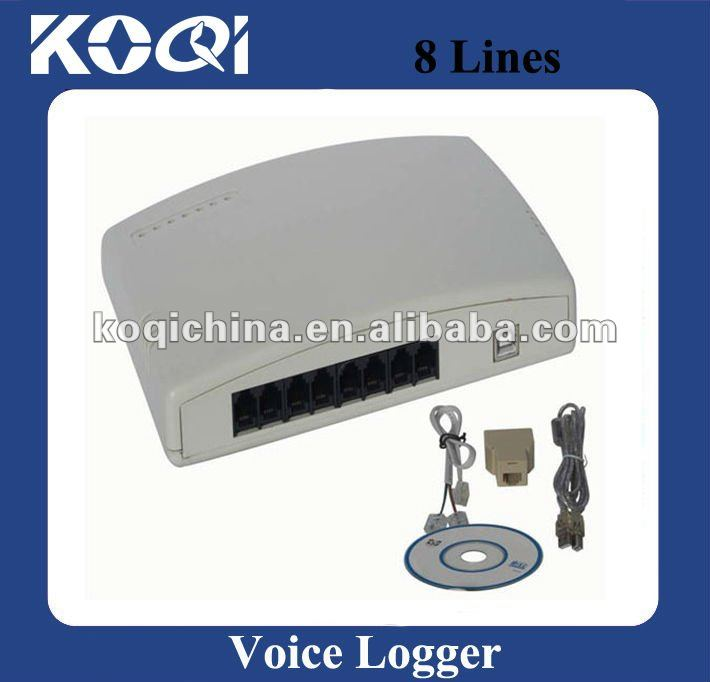 8 channel usb telephone voice logger