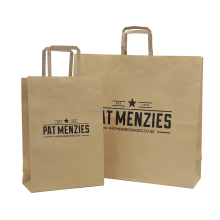 Custom Printed Brown craft paper bag for Shopping