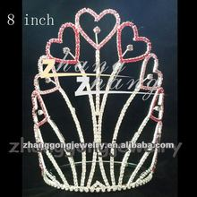 Wholesale large Valentine's day pageant crown