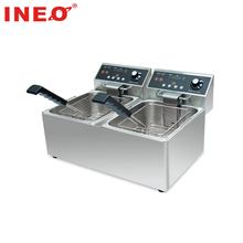 Stainless steel double commercial deep fryer/ oil free fryer