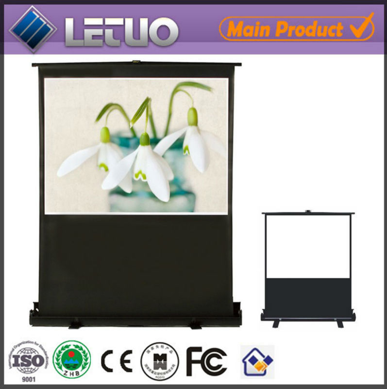 Large floor standing roll up manual 150 inch outdoor rear overhead projection projector screen