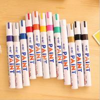 12 colors Waterproof Rubber Permanent Paint Marker Pen Car Tyre Tread Environmental Tire Painting