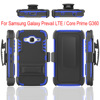 3 in 1 PC and TPU Hybrid Armor Stand Case for Samsung Galaxy Core Prime G360 Belt Clip Holster Cases