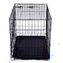 Collapsible Metal Dog Crate with double doors