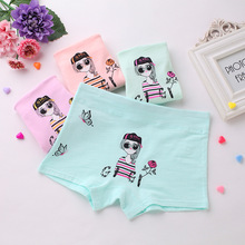 Full cotton lovey printed colorful modeling girl children underwear