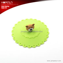 Eco-friendly food grade hot selling silicone bear lid silicone cup cover