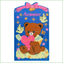 Polypropylene plastic write pad with cute bear printing, pp/pvc/pet children writing boards for students which made in Shanghai