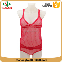 Factory direct selling fashion red hot sexy mature women sexy lingerie