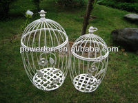 Eco-friendly 2013 Newest lovely design cheap white hanging round metal pets quail cage