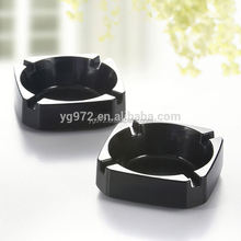melamine Easy clean ashtray Plastic black ashtray for restaurant light ashtray for car