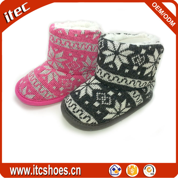 Design your own knitted children boots handmade baby crochet boots