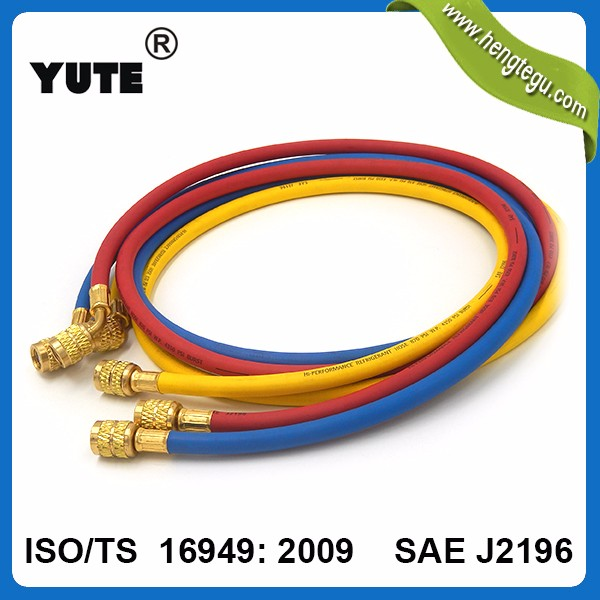 hs code rubber hose ul certification 3 color ac charging hose sae j2196