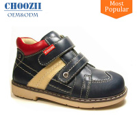 Popular Design Magic Strap Genuine Leather Russian Children Shoes