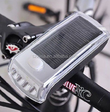New Bike Bicycle 4 LED Solar And USB 2.0 Rechargeable Front Head Light Headlight