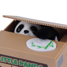 Cute Panda Automatic Stole Coin Piggy Bank 11.5x9.5x9cm Size Money Saving Box Moneybox Gifts for Kids