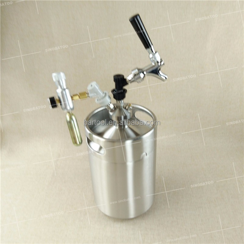 hot sale ball lock beer keg 5l with fitting