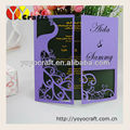Customized handmade wedding invites laser cut supply wedding invitation pearl card