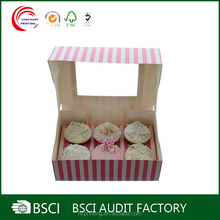 Wholesale Custom cheap paper package for cupcake