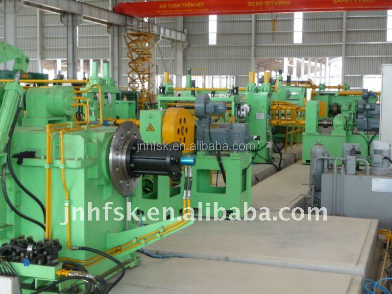 Customized Width Automatic Steel sheet slitting machine , steel coil slitting line