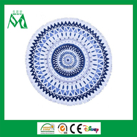 China private label luxury woven printed round beach towel